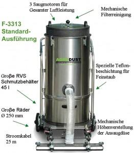 AGRODUST Power-staubsauger-F3313